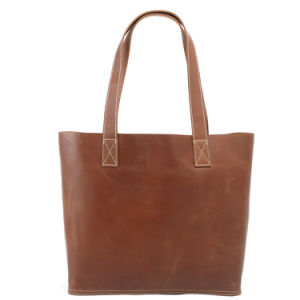 Genuine Leather Women Cheapest Design Top-Handle Handbag (RS-6015) pictures & photos