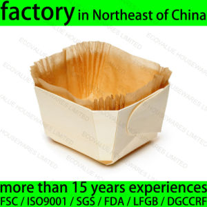 Wooden Baking Plate, Disposable Wood Baking Mould pictures & photos