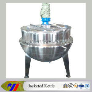 Steam Heating Vertical Cooking Pan Jacketed Kettle pictures & photos