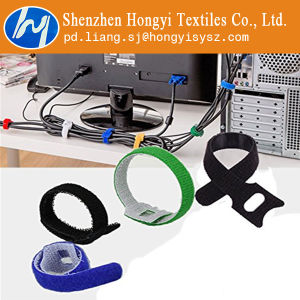 Black Reusable Hook and Loop Velcro Cable Ties pictures & photos