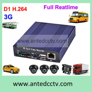 4 Channel H. 264 SD Card 3G Mobile DVR with GPS Tracking pictures & photos