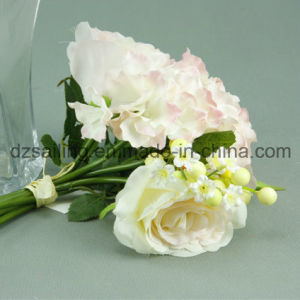 Artificial Rose & Hydrangea Bouquet Flower for Decoration (SF12496)
