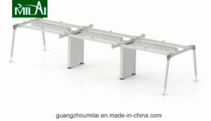 Excellent Quality Steel Frame Office Furniture Staff Table with Cabinets pictures & photos