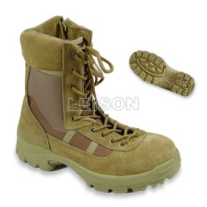 Tactical Boots of Cowhide Full Grain Leather/ Anti-Slip pictures & photos