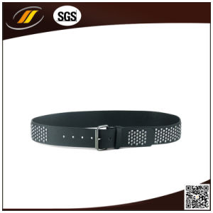 Factory Price Pin Buckle Stud Leather Belt (HJ0325)