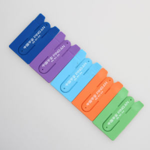 Silicone Credit Card Stick Holder for Cellphone pictures & photos