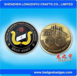 Round Enamel Bridge Embossed Metal Coin for Promotion pictures & photos