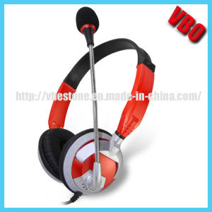 2014 China New Designed Flexible Comfortable Computer Headphone with Rotary Mic pictures & photos
