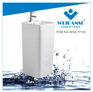 Weidansi Ceramic Wash Pedestal Basin Wash Sink (WDS-P7103)