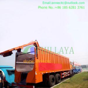 3 Axle Aluminum 45m3 Bulk Cargo Flour Tank Semi Trailer pictures & photos