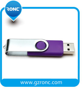 Xtmas Promotion Swivel USB Flash Disc with Metal Housing pictures & photos
