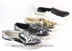 Women Shoes / Classic Leisure Shoes with PVC Injection Outsole (SNC-49008) pictures & photos