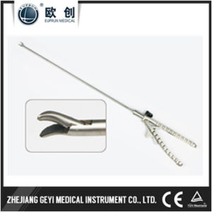 Reusable Laparoscopic Needle Holder Left Curved Right Curved Tip pictures & photos