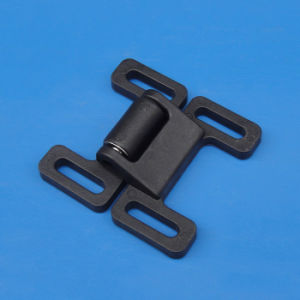 Double-Goal Barrier Nylon Door Latch for 30s 40s Profile 76*74*23mm pictures & photos