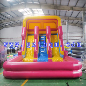 Yellow Cartoon Inflatable Water Slides pictures & photos