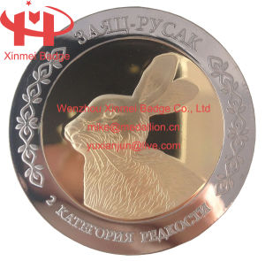 Rabbit Metal Coin Made of Iron Material