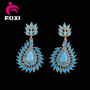 Wuzhou Foxi Fashion CZ Gold Plated Earrings for Women Party pictures & photos