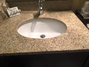 China Natural Stone Desert Gold G682 Granite Vanity Top for Bathroom pictures & photos
