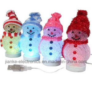 Flashing USB Snowman Christmas Gifts with Logo Print (5004) pictures & photos
