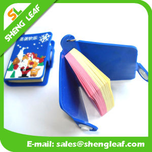 Rubber PVC Cover Mini Notebook Keychain pictures & photos