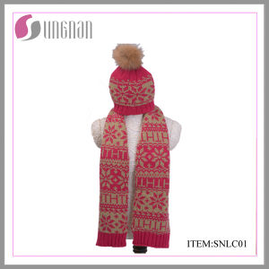 2015 Latest Children Warm Jacquard Scarf and Hat Suit (SNLC01) pictures & photos