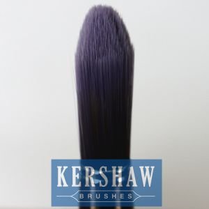 Round Brush (Paintbrush with purple tapered filament and hard wood handle, tip-round brush) pictures & photos