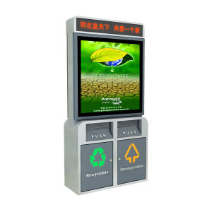 Aluminum Trash Can Dust Bin Advertising Scrolling Light Box (TOP-ESB01) pictures & photos