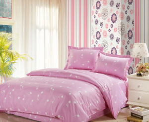 100% Cotton with Music Notes Pink Comfort Bedding Sets pictures & photos