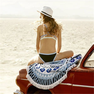 Cotton Round Beach Towel Beach Blanket with Top-Quality pictures & photos