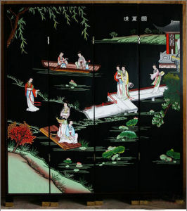 Chinese Reproduction Wooden Painted Screen Lwl-03 pictures & photos