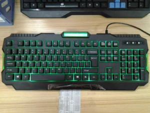 ABS Materials Illuminated Multimedia Gaming Keyboards (KB-1901-C) pictures & photos