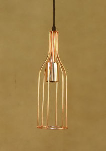 Wine Bottle Design Metal Frame Pendant Lamp (C5006141) pictures & photos