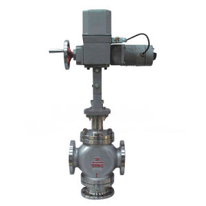 Electric Actuated Three Way Mixing Control Valve (GZDLQ) pictures & photos
