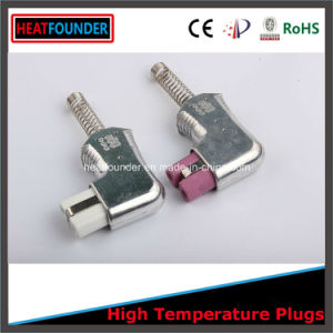 220V-600V 90 Degree Angle Ceramic Plug with Pink Ceramic Head (T729) pictures & photos