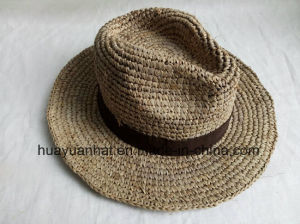 100% Raffia Straw with Crocheted Safari Hats pictures & photos