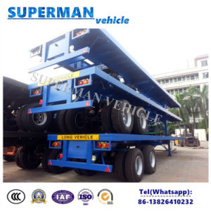 Bogie Axle Heavy Duty Flatbed Container Semi Truck Trailer for Cargo pictures & photos