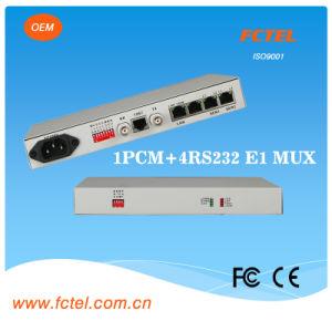 Mini 1PCM Mux + 4RS232 Voice Transceiver