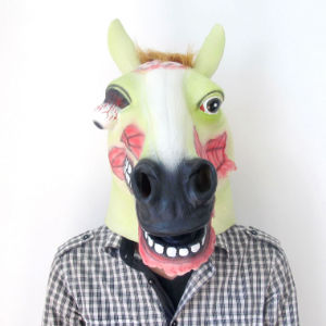 High Quality Rubber Mask, Halloween Party Horse Head Mask pictures & photos