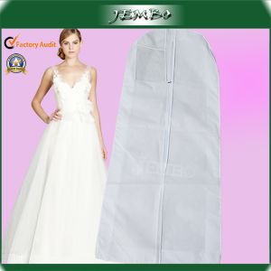 White Gusset Long Breathable Bridal Dress Garment Bag pictures & photos