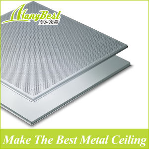 Cheap Eco Aluminum Square Ceiling Panel Tile with Decorative Designs pictures & photos