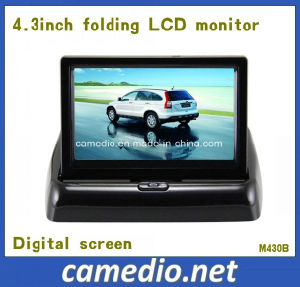 4.3inch Folding Standalone Rearview TFT Car Monitor with 2 AV Inputs&Digital Screen pictures & photos