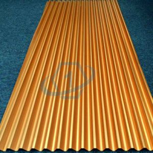 Yellow Color Aluminum Corrugated Core pictures & photos
