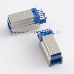 High Spee USB B Type3.0 Solder Connector pictures & photos