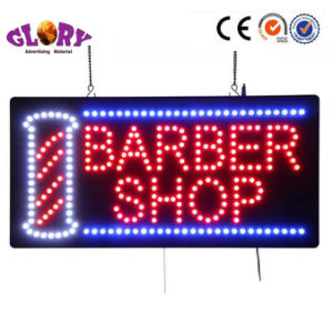 LED Open Sign with Moving Sign Barbershop Open Sign pictures & photos