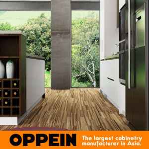 Modern Lacquer Wooden Modular Kitchen Cabinets with Island (OP16-L04) pictures & photos