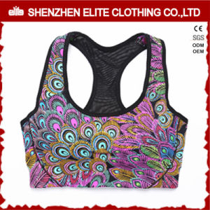 Custom Sublimation Printing Polyester Sports Bra pictures & photos