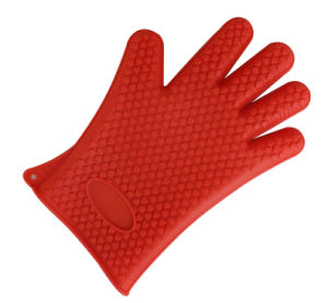 No-Toxic Heat Resistant Silicone Oven Gloves pictures & photos