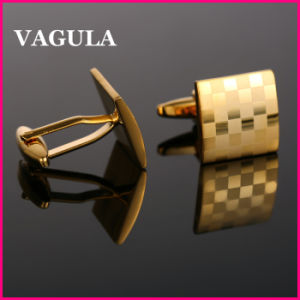 VAGULA High Quality Gold Laser Cuff Links (HL10169) pictures & photos