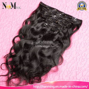Plastic Hair Clips 100% Top Real Human Hair Clip in Hair Extensions pictures & photos