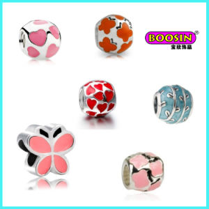 Wholesale Fashion Alloy Colorful Enamel Bracelet Bead Charm pictures & photos